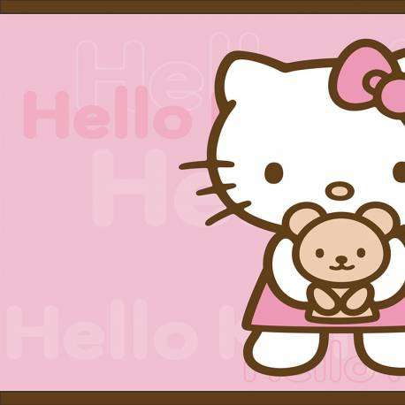 Faixa decorativa rosa hello kitty 734-1215