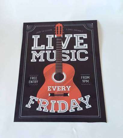 Poster Live Music Every Friday
