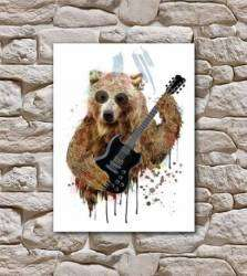 Pôster urso rock n roll