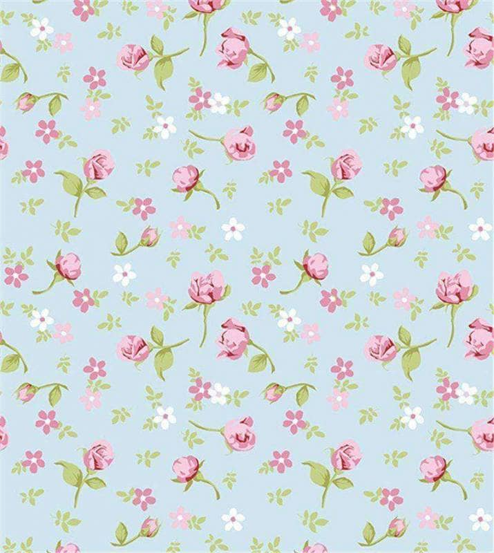 Papel de parede beb floral com rosas for Papel de pared para bebes