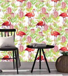 Papel de parede Flamingo tropical